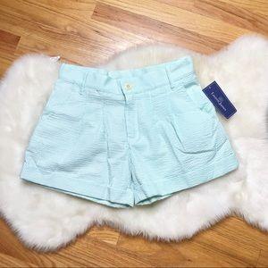 Lauren James mint seersucker shorts